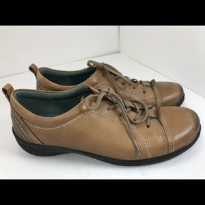 Ecco brown leather lace up sneakers shoes 41